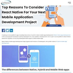 Why should you choose React Native for your next Mobile Development Project?