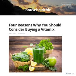 Four Reasons Why You Should Consider Buying a Vitamix – householdchic