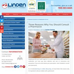 Three Reasons Why You Should Consult a Pharmacist