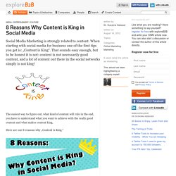 8 Reasons Why Content is King in Social Media