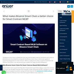 Reasons to build Smart Contract Based MLM Software on Binance Smart Chain