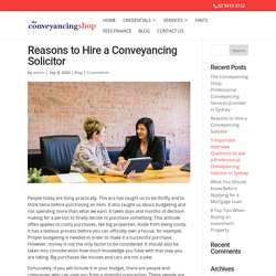 Reasons to Hire a Conveyancing Solicitor
