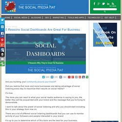 5 Reasons Social Dashboards Are Great For Business