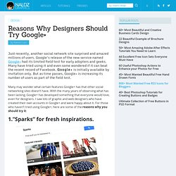 Reasons Why Designers Should Try Google+
