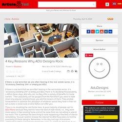 4 Key Reasons Why ADU Designs Rock Article