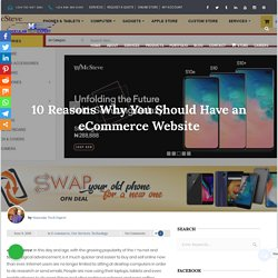 10 Reasons Why You Should Have an eCommerce Website