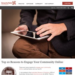 Top 10 Reasons to Engage Your Community Online
