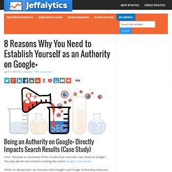 8 Reasons Why You Need to Establish Authority on Google+