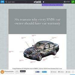 Six reasons why every BMW car owner should have car warranty