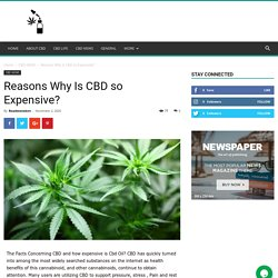 Reasons Why Is CBD so Expensive? - Roadsnotaken