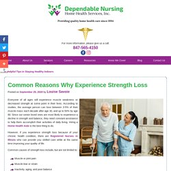 Common Reasons Why Experience Strength Loss