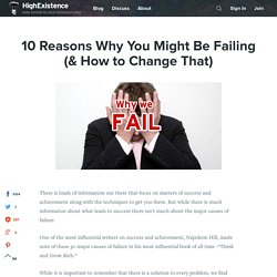 10 Reasons Why You Might Be Failing (& How to Change That)