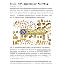 What is the purpose of brass fasteners?