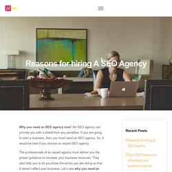 Reasons for hiring A SEO Agency
