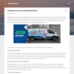 3 Reasons To Go For HVAC Vehicle Wraps