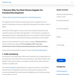 7 Reasons Why You Must Choose Angular For Frontend Development