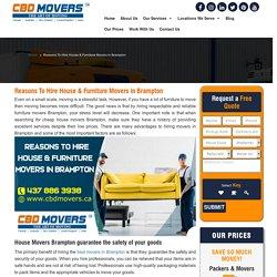 Furniture Movers Brampton