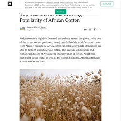 Top Reasons for the Growing Popularity of African Cotton