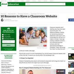 10 Reasons to Have a Classroom Website