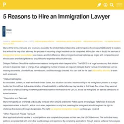 5 Reasons to Hire an Immigration Lawyer