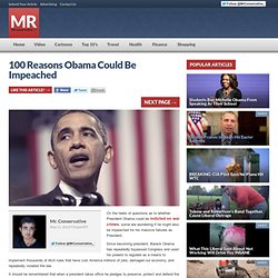 100 Reasons Obama Could Be Impeached