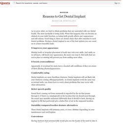 Reasons to Get Dental Implant