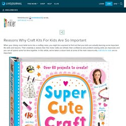 Reasons Why Craft Kits For Kids Are So Important: hinklerbooks