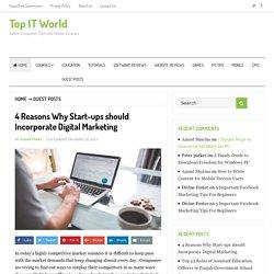 4 Reasons Why Start-ups should Incorporate Digital Marketing