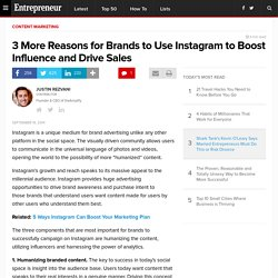 3 More Reasons for Brands to Use Instagram to Boost Influence and Drive Sales