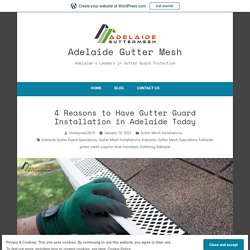 4 Reasons to Have Gutter Guard Installation in Adelaide Today – Adelaide Gutter Mesh