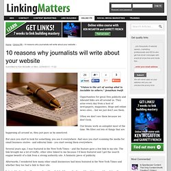Journalists, Online PR & Link Building