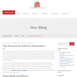 Top Reasons for Kitchen Renovation