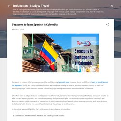 5 reasons to learn Spanish in Colombia