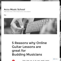 5 Reasons why Online Guitar Lessons are great for Budding Musicians