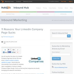 11 Reasons Your LinkedIn Company Page Sucks