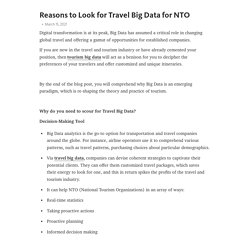 Reasons to Look for Travel Big Data for NTO – Telegraph