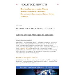Reasons to choose Managed IT services