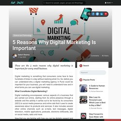 5 Reasons Why Digital Marketing Is Important