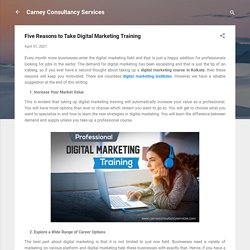 Five Reasons to Take Digital Marketing Training
