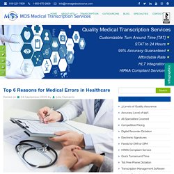 Top 6 Reasons for Medical Errors in Healthcare