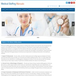 Reasons To Hire Medical Staffing Agency