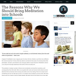 The Reasons Why We Should Bring Meditation into Schools