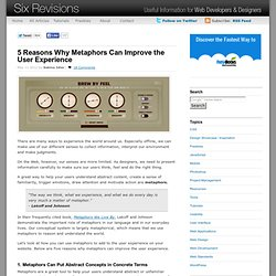 5 Reasons Why Metaphors Can Improve the User Experience