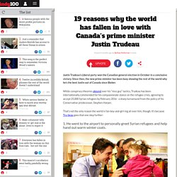19 reasons why the world has fallen in love with Canada's prime minister Justin Trudeau
