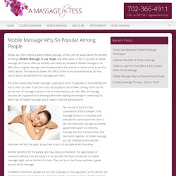 5 Reasons you should know Why Mobile Massage in Las Vegas So Popular