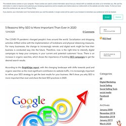 5 Reasons Why SEO is More Important Than Ever in 2020