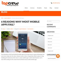 Top 6 reasons for mobile app failure