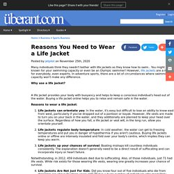 Reasons You Need to Wear a Life Jacket
