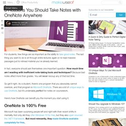 5 Reasons You Should Take Notes with OneNote Anywhere