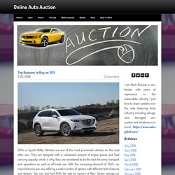 Top Reasons to Buy an SUV - Online Auto Auction